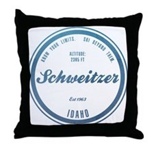 Schweitzer Ski Resort Idaho Throw Pillow