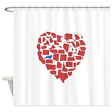 North Carolina Heart Shower Curtain