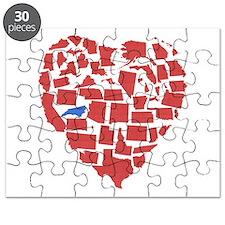North Carolina Heart Puzzle