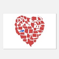 North Carolina Heart Postcards (Package of 8)