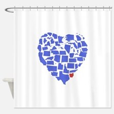 Ohio Heart Shower Curtain