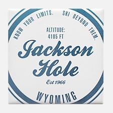 Jackson Hole Ski Resort Wyoming Tile Coaster
