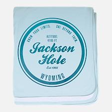 Jackson Hole Ski Resort Wyoming baby blanket