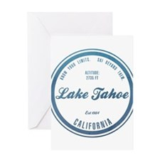Lake Tahoe Ski Resort California Greeting Cards