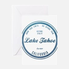 Lake Tahoe Ski Resort California Greeting Cards