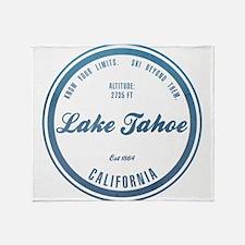 Lake Tahoe Ski Resort California Throw Blanket