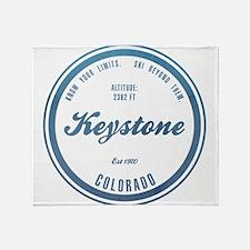 Keystone Ski Resort Colorado Throw Blanket