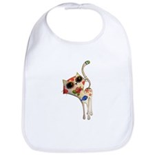 White Mexican Cat Bib