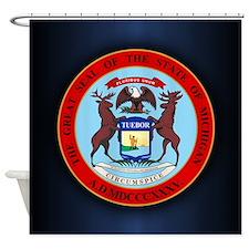 Michigan Seal Shower Curtain
