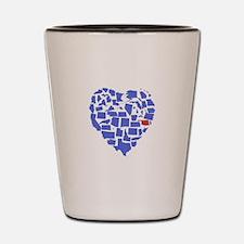 Oklahoma Heart Shot Glass