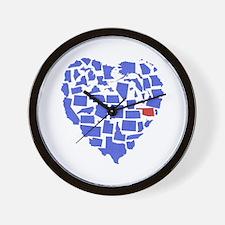 Oklahoma Heart Wall Clock