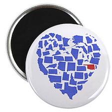 Oklahoma Heart Magnet