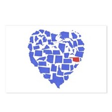 Oklahoma Heart Postcards (Package of 8)