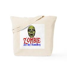 Zombie Ate My Homeboy Tote Bag
