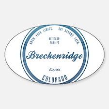 Breckenridge Ski Resort Colorado Decal