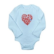 Oklahoma Heart Long Sleeve Infant Bodysuit
