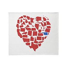 Oklahoma Heart Throw Blanket