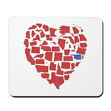 Oklahoma Heart Mousepad