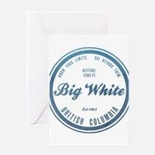 Big White Ski Resot British Columbia Greeting Card