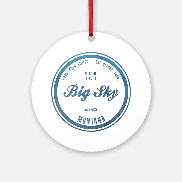 Big Sky Ski Resort Montana Ornament (Round)