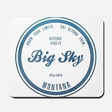 Big Sky Ski Resort Montana Mousepad