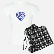 Oregon Heart Pajamas