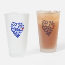 Oregon Heart Drinking Glass