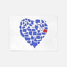 Oregon Heart 5'x7'Area Rug