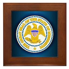 Mississippi Seal Framed Tile