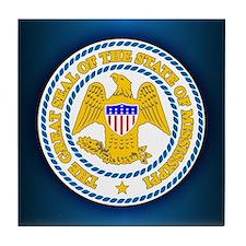 Mississippi Seal Tile Coaster