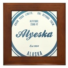 Alyeska Ski Resort Alaska Framed Tile