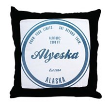 Alyeska Ski Resort Alaska Throw Pillow