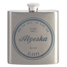 Alyeska Ski Resort Alaska Flask
