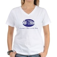 A woman in the White House T-Shirt