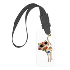 White Mexican Cat Luggage Tag