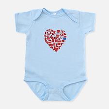 Oregon Heart Infant Bodysuit