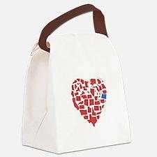Oregon Heart Canvas Lunch Bag
