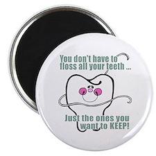 """Keep Flossing! Dentist 2.25"""" Magnet (100 pack)"""