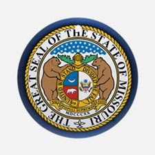 Missouri Seal Ornament (Round)