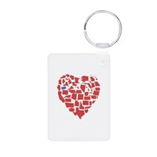 Oregon Heart Keychains