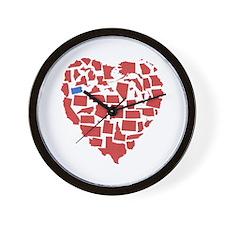 Oregon Heart Wall Clock
