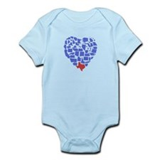 Texas Heart Infant Bodysuit