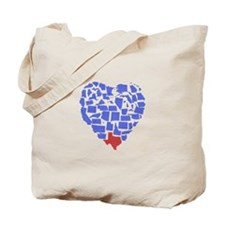 Texas Heart Tote Bag