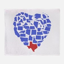 Texas Heart Throw Blanket