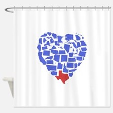 Texas Heart Shower Curtain
