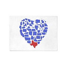 Texas Heart 5'x7'Area Rug