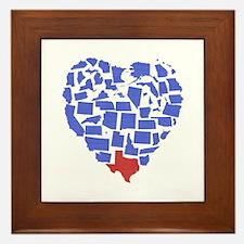 Texas Heart Framed Tile
