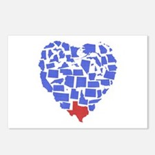 Texas Heart Postcards (Package of 8)