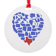 Texas Heart Ornament