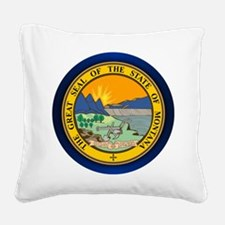 Montana Seal Square Canvas Pillow